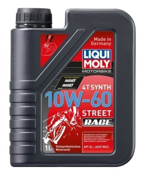 LIQUI MOLY Olej silnikowy syntetyczny do motocykli 10W60 Race 4T 1 litr
