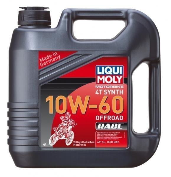 LIQUI MOLY Olej silnikowy syntetyczny do motocykli 10W60 Offroad Race 4T 4 litry
