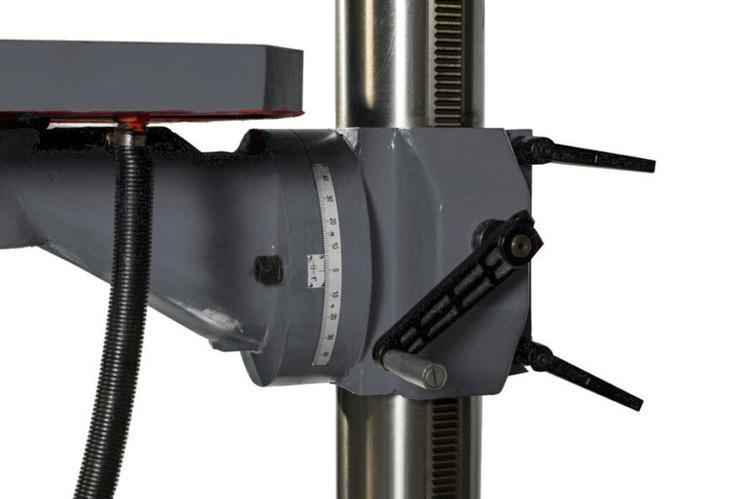 WIERTARKA GWINCIARKA STOŁOWA SŁUPOWA KOLUMNOWA DO METALU PRZEKŁADNIOWA MAKTEK Z5035 35 mm Z AUTO POSUWAMI EWIMAX