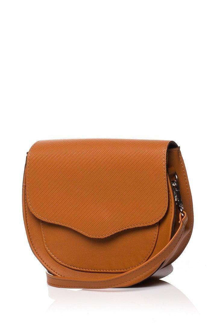 Mała torebka listonoszka ruda