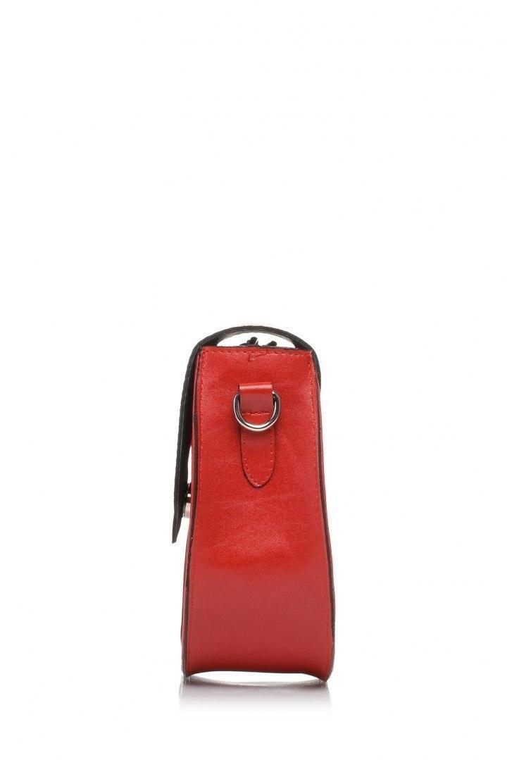 Mała torebka listonoszka czerwona