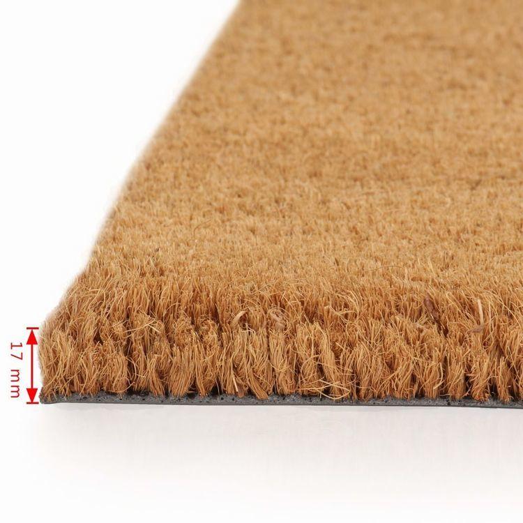 Wycieraczka z włókna kokosowego, 17 mm, 100x100 cm, naturalna