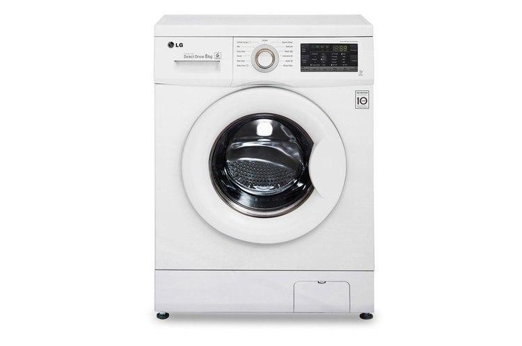 LG Washing Machine FH2J3TDN0 Front loading, Washing capacity 8 kg, 1200 RPM, Direct drive, A+++, Depth 55 cm, Width 60 cm, White w Strefie Komfortu