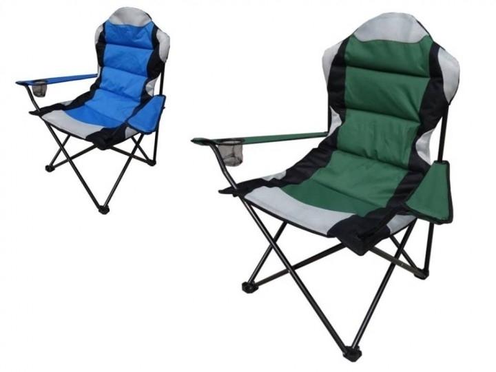 Krzesło kempingowe składane TL355 do 100 kg zielone