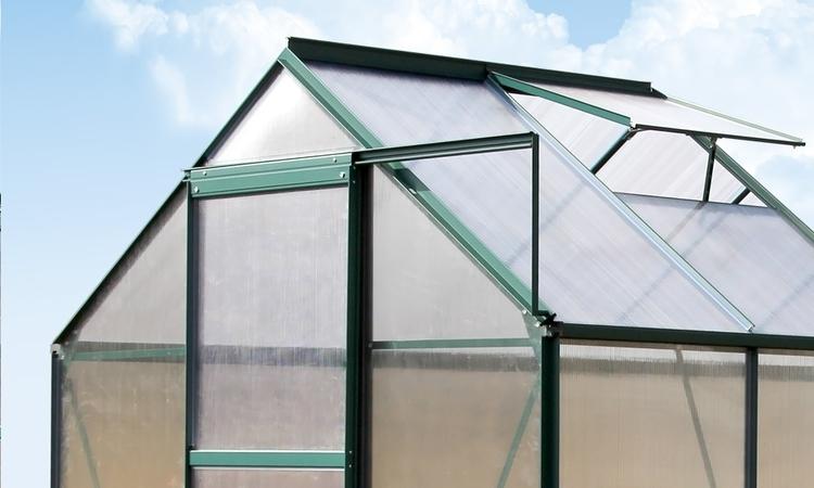 Szklarnia ogrodowa 2,6m2, cieplarnia 1,3x2x2m, aluminium + poliwęglan, kolor zielony