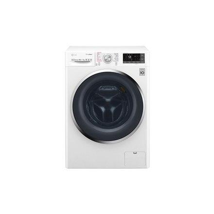 LG Washing mashine with dryer F4J8JH2W Eco Hybrid™ Front loading, Washing capacity 10.5 kg, Drying capacity 7 kg, 1400 RPM, Dire w Strefie Komfortu