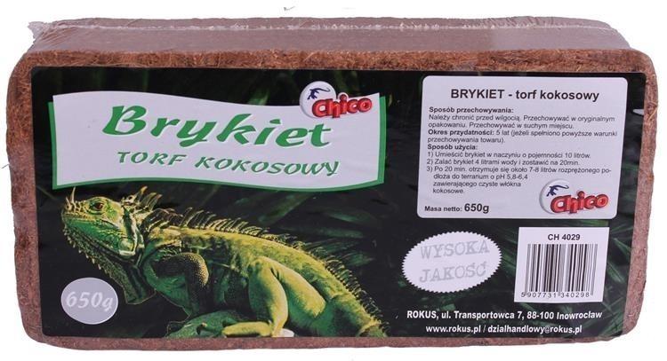Chico terra brykiet torf kokosowy 650 g Dostawa GRATIS od 89 zł + super okazje