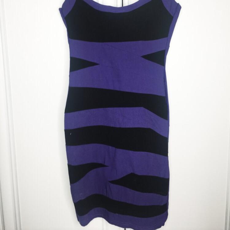 Fioletowo czarna sukienka