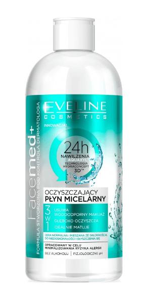 Facemed+ 3w1 oczyszczający płyn micelarny dla cery normalnej i mieszanej 400ml