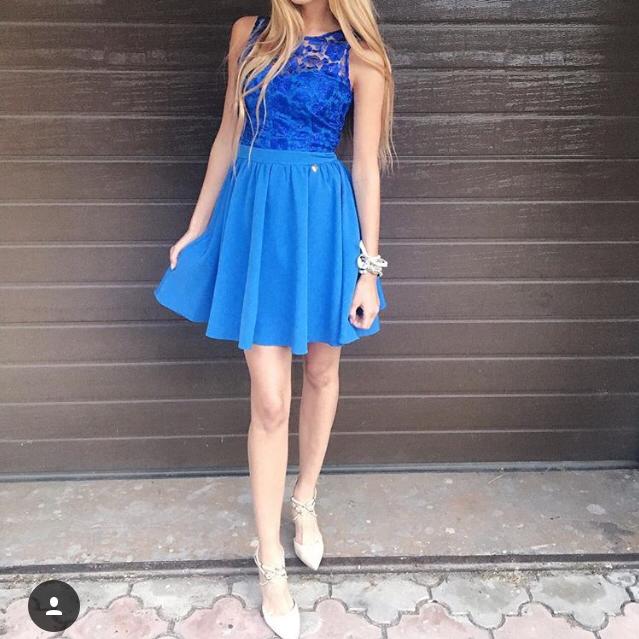 Sukienka niebieska nowa