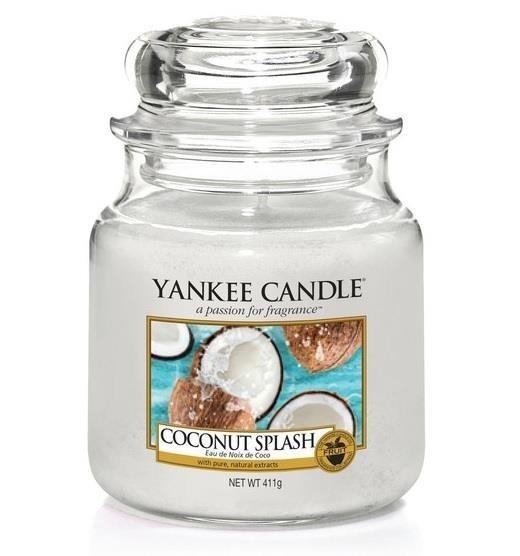 YANKEE CANDLE Med Jar średnia świeczka zapachowa Coconut Splash 411g