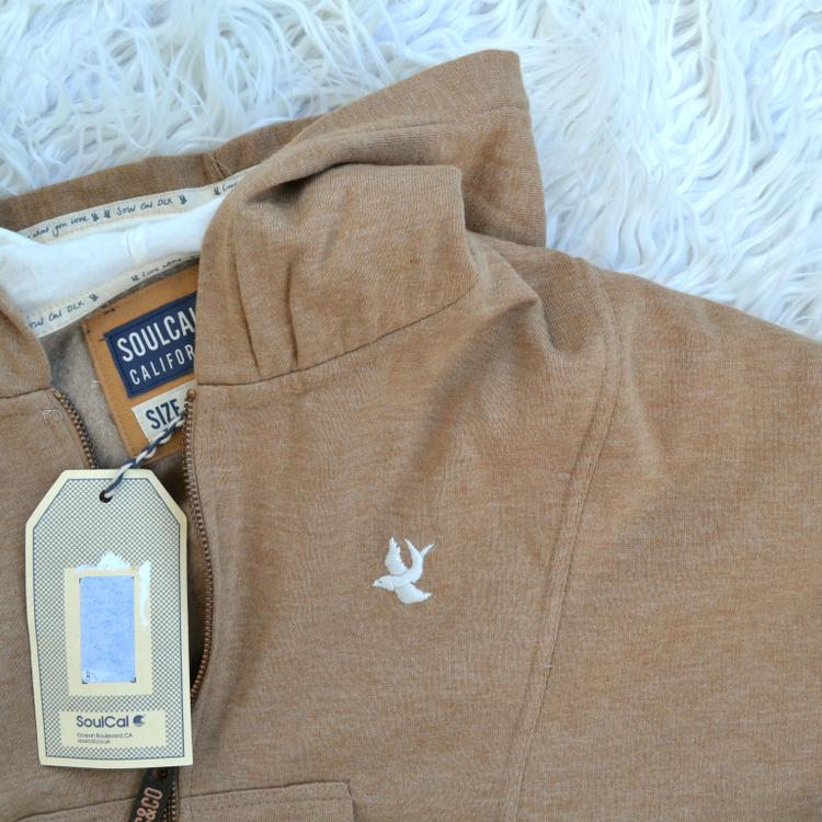 bluza krótka top soulcal&co z kapturem kangurka