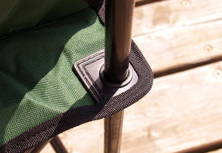 Krzesełko wędkarskie do 120 kg Krzesło campingowe składane 2szt.