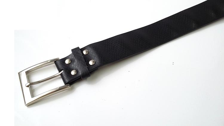 Pasek ANIMAL WĄŻ 106 cm - czarny
