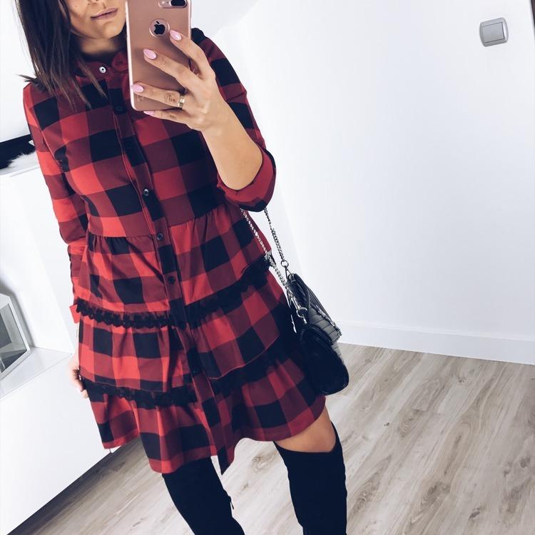 Świetna sukienka w kratkę