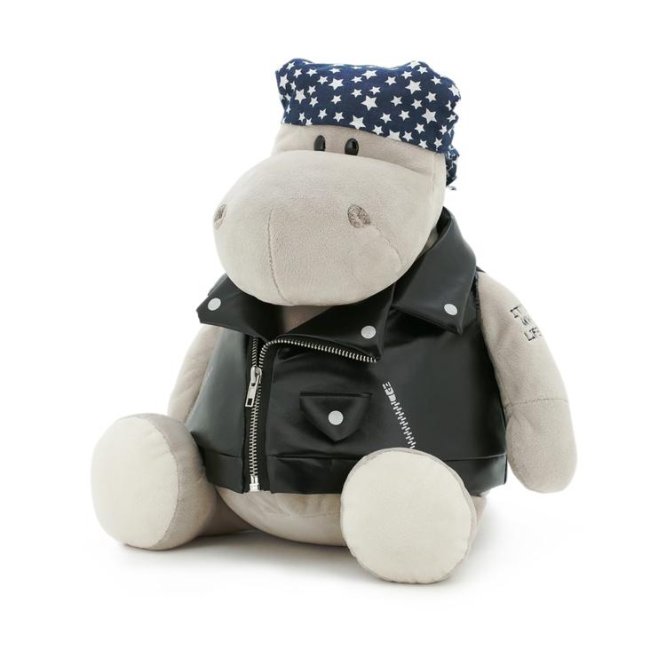 Przytulanka Hipopotam motocyklista - 70cm
