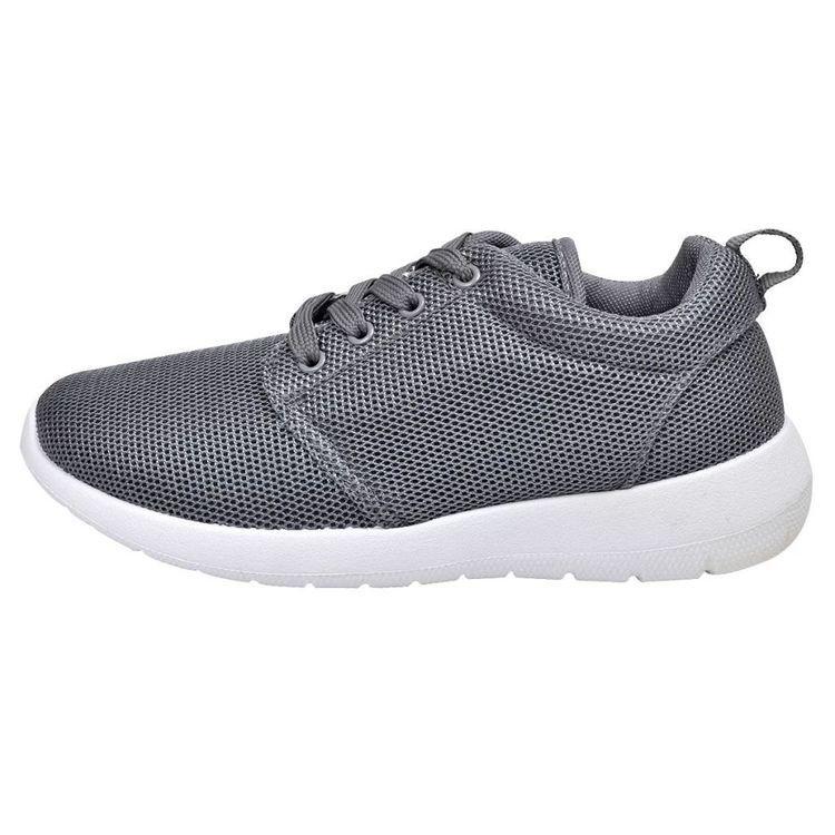 Damskie, wiązane buty do biegania, szare rozmiar 36