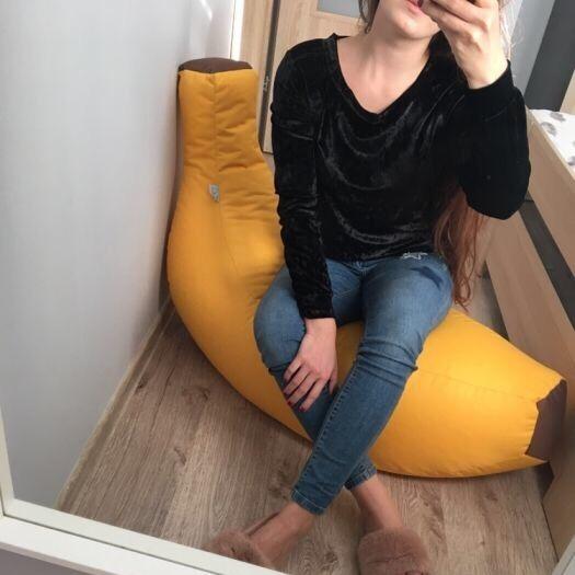 Modna, wygodna welurowa bluza CZARNA