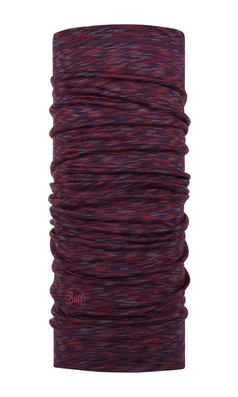 Chusta Buff Merino Wool Lightweight RUBY MULTI STRIPES