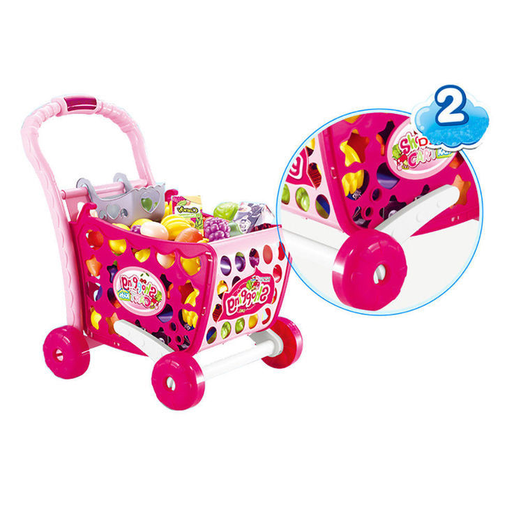 grający Wózek na zakupy dla dzieci do zabawy z akc