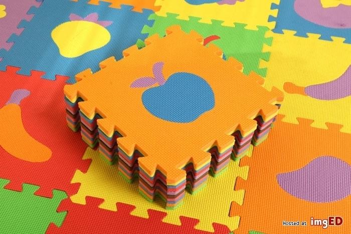 puzzle piankowe owoce warzywa 36 el.30x30cm