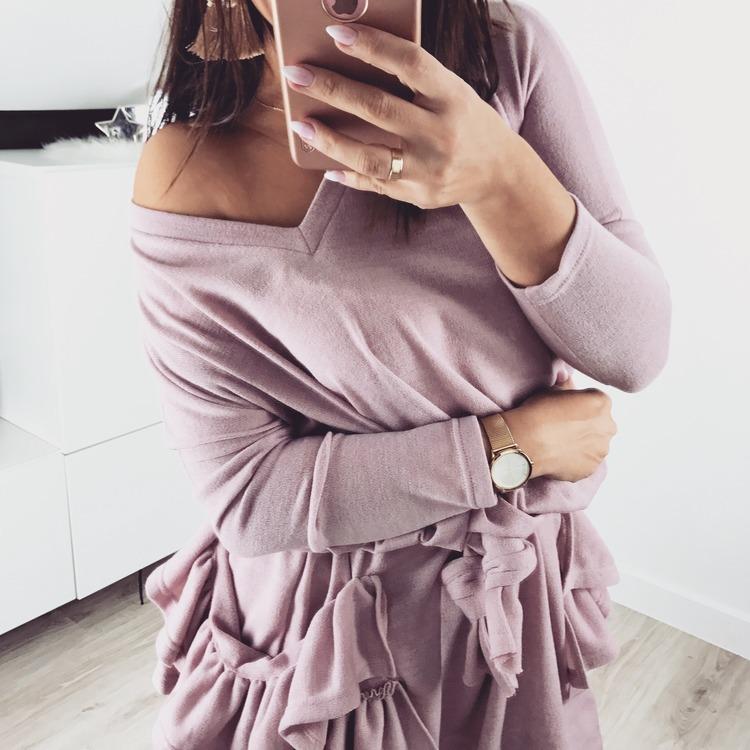 Swetrowej sukienka