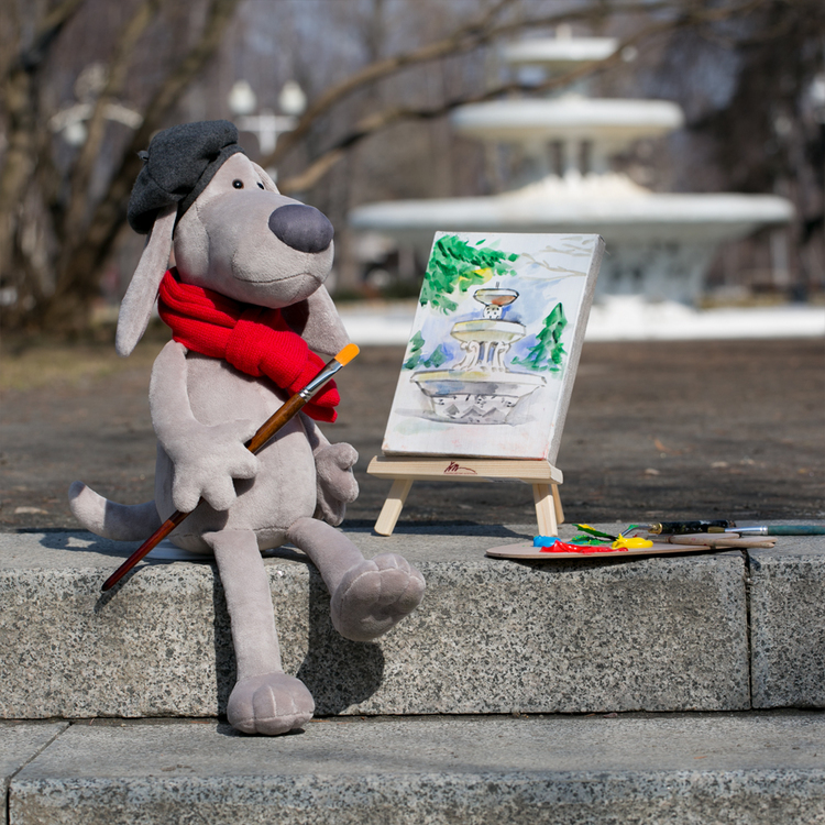 Przytulanka Pierre - Pies Artysta - 32cm