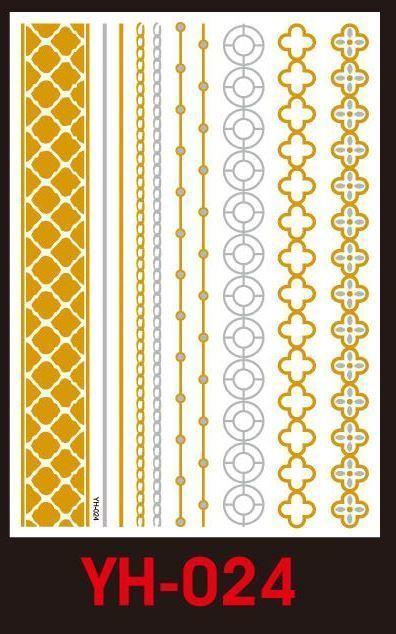 Tatuaże metalic złote srebrne FLASH TATTO YH-024