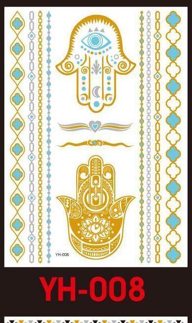 Tatuaże metalic złote srebrne FLASH TATTO YH-008