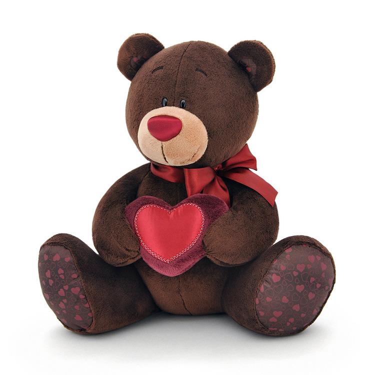 Maskotka Miś Pan Choco z sercem - 15cm