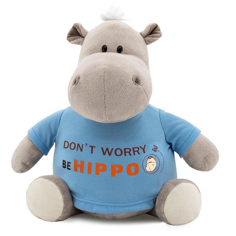 Przytulanka Hipopotam Po w bluzie Be Hippo - 22cm