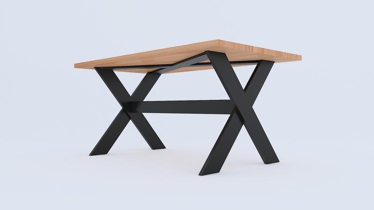 Duży stół dębowy loft na wymiar