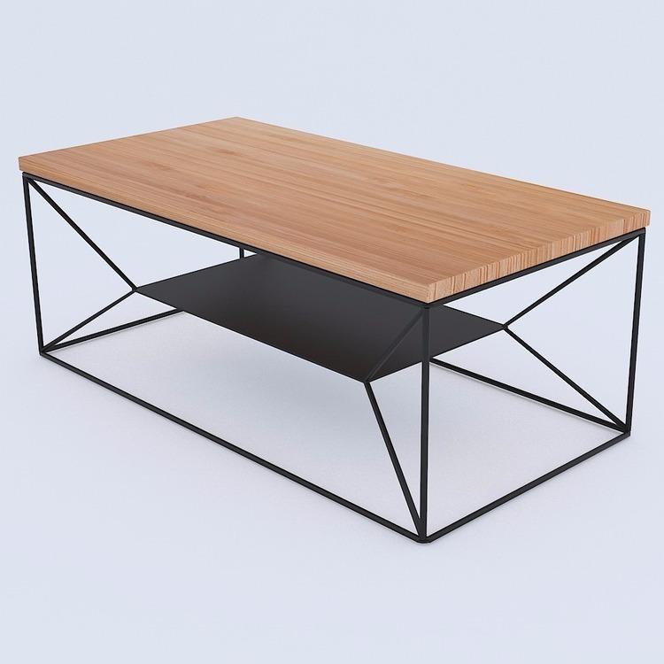 Loftowy stolik kawowy styl industrialny nowość