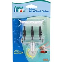 Penn Plax Aqua Life Deluxe Air+Check Valve - 3 Outlets