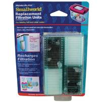 Penn Plax Filter Cartridge for Smallworld Rectangle Tank Filter - 2 pk