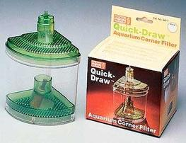 Penn Plax Quick-Draw Corner Aquarium Filter