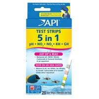 API 5 in 1 Test Strips - 25 Pack
