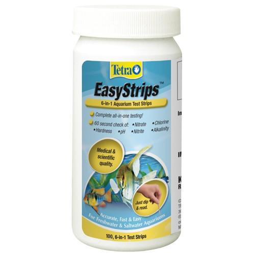 Tetra easystrips 6 in 1 aquarium test strips 100 pk for Fish tank test strips