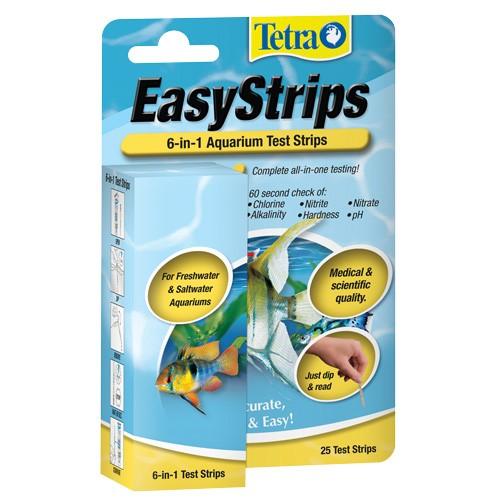 Tetra easystrips 6 in 1 aquarium test strips 25 pk for Fish tank test strips