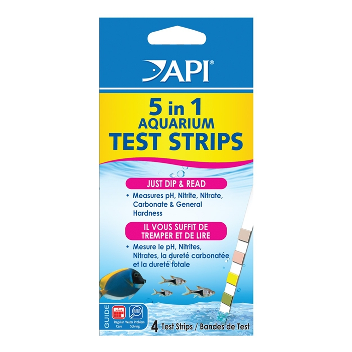 API 5 in 1 Test Strips - 4 Pack