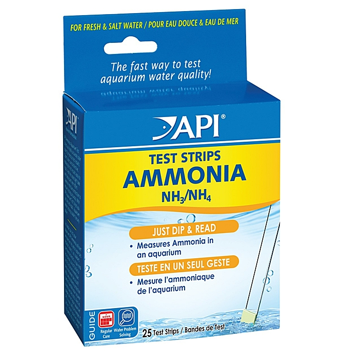 API Ammonia Aquarium Test Strips - 25 pack