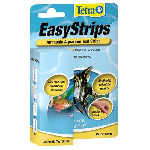 Tetra easystrips ammonia aquarium test strips 25 pack for Fish tank test strips