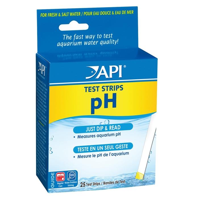 API pH Aquarium Test Strips - 25 pack