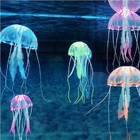 Underwater Treasures Free-Floating Action Jellyfish - Orange