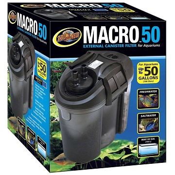 Zoo Med Macro External Canister Filter - 50 gal