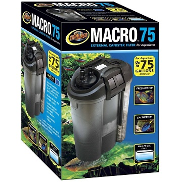 Zoo Med Macro External Canister Filter - 75 gal