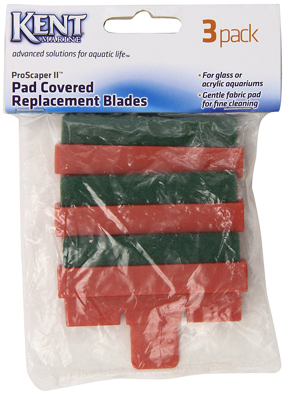 Kent Marine Pad Covered Blades for ProScraper II - 3 pk