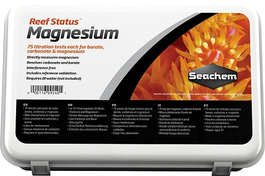 Seachem Reef Status Test Kit - Magnesium/Carbonate/Borate - 75 Tests