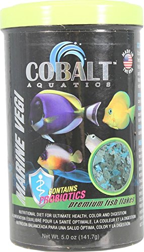 Cobalt Aquatics Marine Vegi Flakes Premium Fish Food - 16 oz