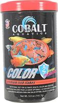 Cobalt Aquatics Color Flakes Premium Fish Food - 5 oz
